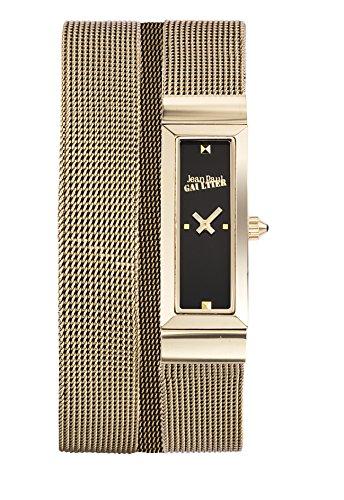Zeigt Damen Jean Paul Gaultier Cote Mesh Stahl PVD Gold Armband Mesh Gold 33 13 5 mm 8503903