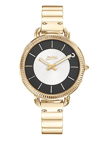 Zeigt Damen Jean Paul Gaultier Index Armband Stahl PVD Gold 45 mm 8504303