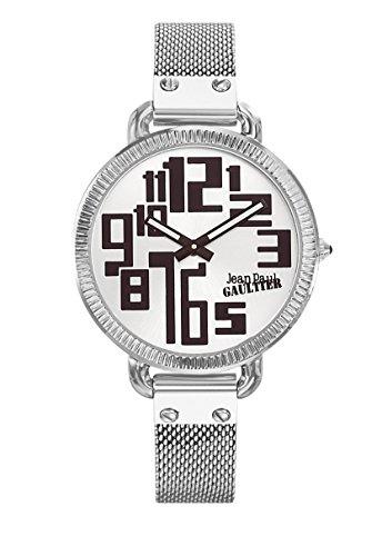 Zeigt Damen Jean Paul Gaultier Index Armband Stahl Silber 36 mm 8504311