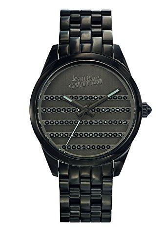 Zeigt Damen Jean Paul Gaultier Navy Armband Stahl PVD Braun Schwarz 37 mm 8502406