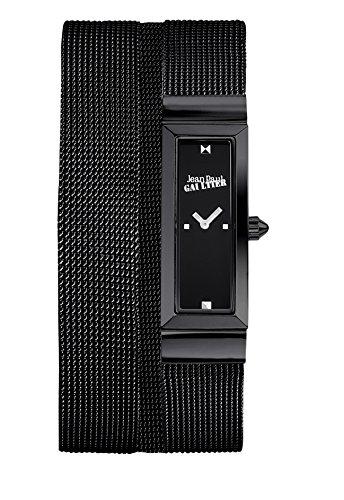 Zeigt Damen Jean Paul Gaultier Cote Mesh Stahl PVD Armband Mesh schwarz 33 13 5 mm 8503905