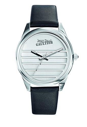 Zeigt Damen Jean Paul Gaultier Navy Armband Leder Schwarz 37 mm 8502408