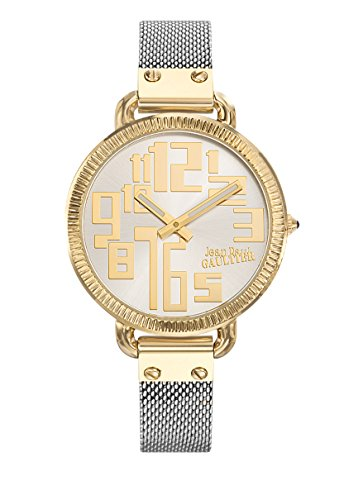 Zeigt Damen Jean Paul Gaultier Index Stahl PVD Gold Armband PVD zweifarbig 36 mm 8504310