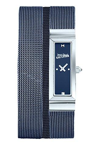 Zeigt Damen Jean Paul Gaultier Cote Mesh Armband Stahl Mesh blau 33 13 5 mm 8503904