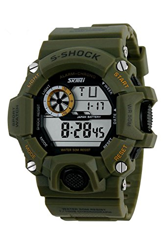 Armbanduhr Skmei Maenner Super Multifunktion Militaere Digitale Wasserdichte Sport Armbanduhr Gruen