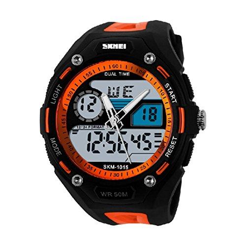 SKMEI maennlicher Bergsteiger Orange wasserdichte elektronische Uhren