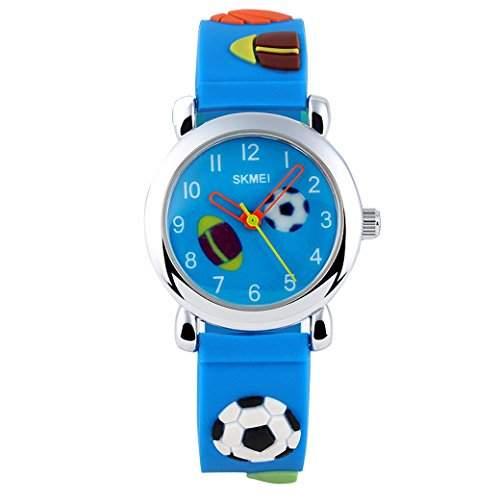 Tangda SKMEI Kinder Armbanduhr Jungen Armband Uhr Sport Child Watch 3D Cartoons Muster Quarzuhr - Blau