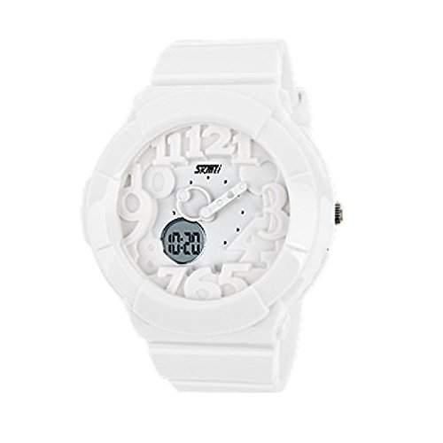 Tangda SKMEI Kinder Armbanduhr Maedchen Digitale Armband Uhr Elektronische Sport Uhren Wasserdichte Quarzuhr - Schwarz und Blaue Digitale