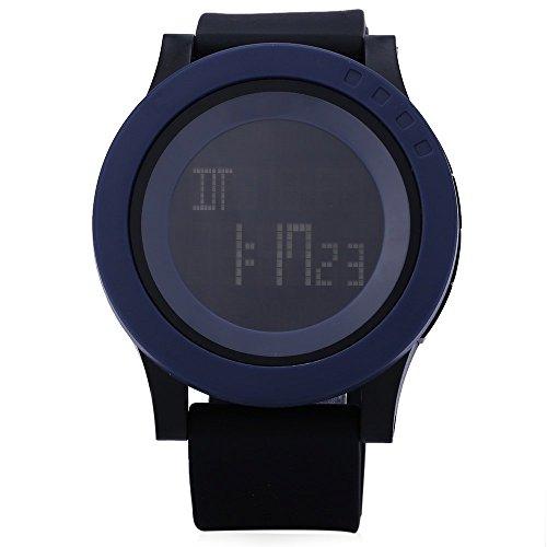 Leopard Shop SKMEI 1142 Herren Sport LED Running Armbanduhr Wasser Widerstand blau schwarz