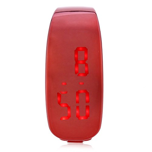 Leopard Shop SKMEI 1160 Unisex LED Digital Armband Uhr Armbanduhr Wasser Widerstand rot