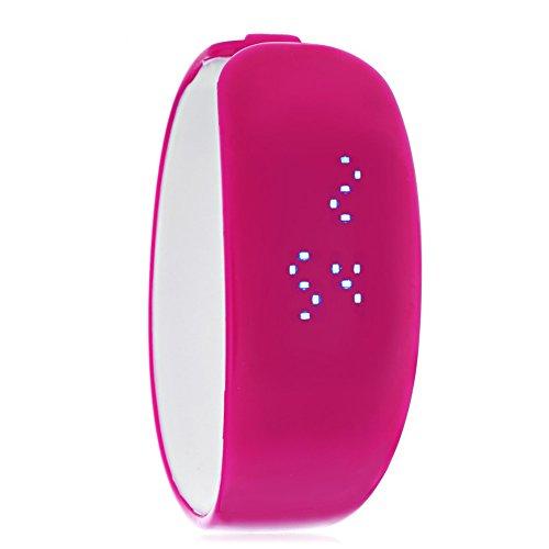 Leopard Shop SKMEI 1160 Unisex LED Digital Armband Uhr Armbanduhr Wasser Widerstand Rose