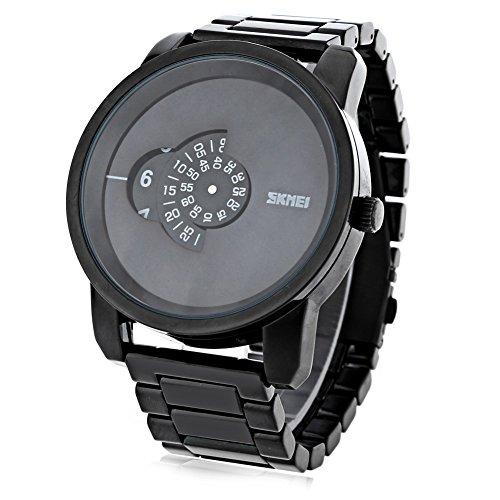 Leopard Shop SKMEI 1171 Herren Quarzuhr Edelstahl Armbanduhr Wasser Widerstand schwarz