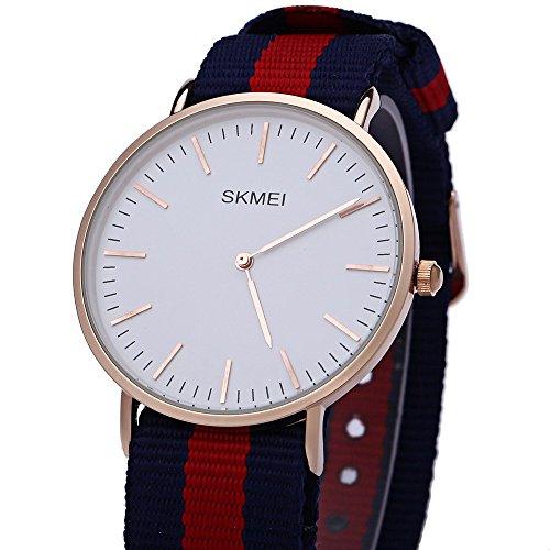 Leopard Shop SKMEI 1181 Herren Ultrathin Zifferblatt Quarzuhr Lederband Armbanduhr 30 m Wasser Widerstand 2