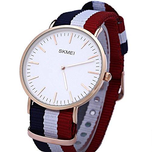 Leopard Shop SKMEI 1181 Herren Ultrathin Zifferblatt Quarzuhr Lederband Armbanduhr 30 m Wasser Widerstand 1