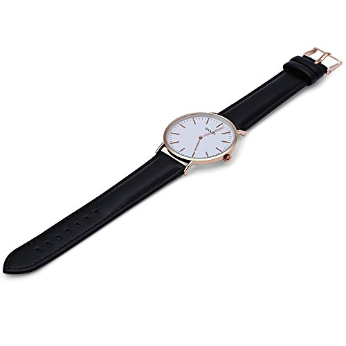 Leopard Shop SKMEI 1181 Herren Ultrathin Zifferblatt Quarzuhr Lederband Armbanduhr 30 m Wasser Widerstand 3