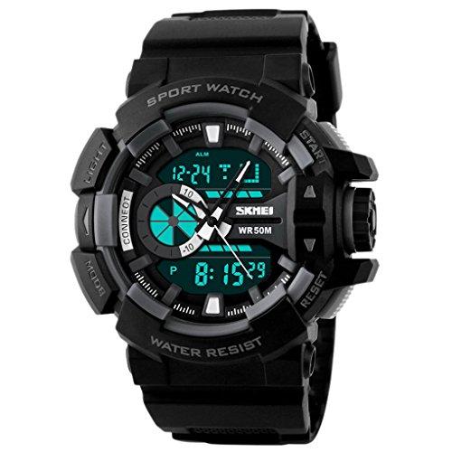 SKMEI Analog Digital Watch mit Kalender Zifferblatt 57 52 17mm Grau