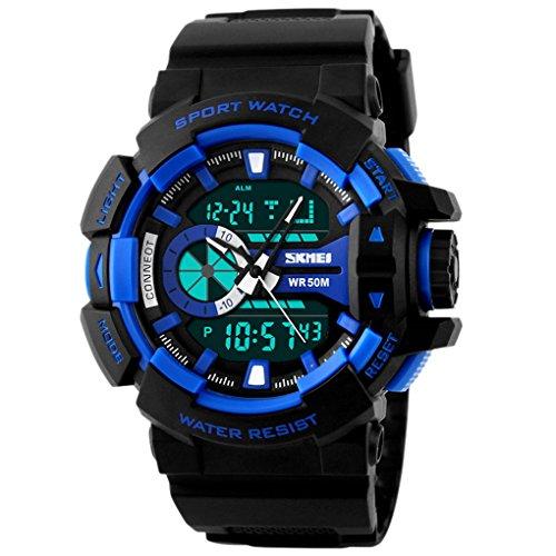 SKMEI Analog Digital Watch mit Kalender Zifferblatt 57 52 17mm Blau