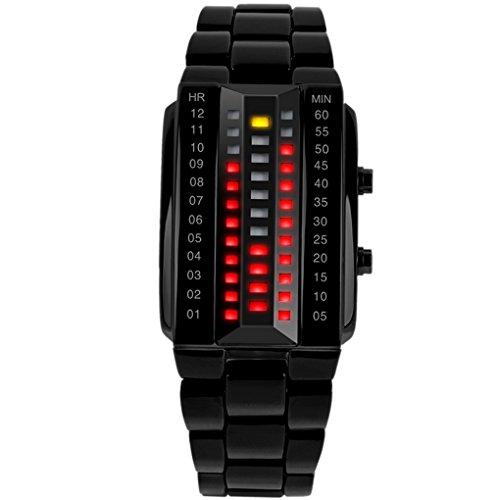 SKMEI Damen Fashion Digital LED Armbanduhr LED Watch Kalender Zifferblatt 35 25 12mm Schwarz