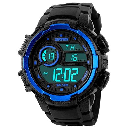 SKMEI Herren Led Watch Zifferblatt 54 50 16mm Blau