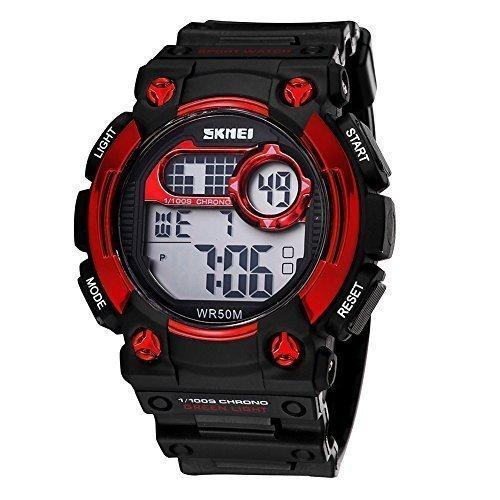 skmei herren digital sport kalender und uhren mit led hintergrundbeleuchtung alarm rote l nette 370501