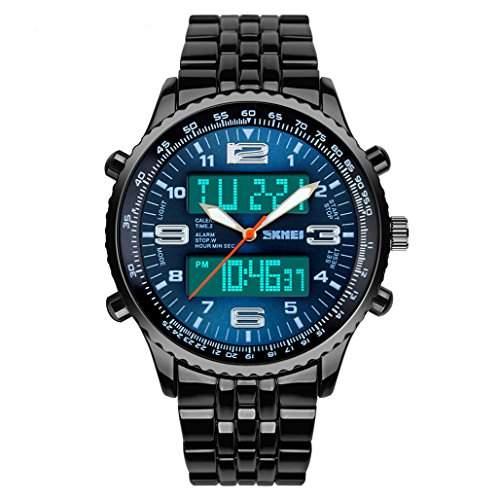 R-timer wasserdicht elektronische armbanduhren fuer maenner,grosse zifferblatt sport-armbanduhr