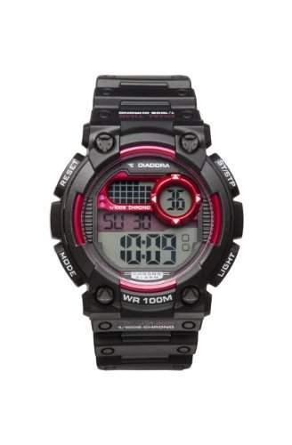 Diadora-di-002-01-Cross-Zeigt Herren-Quartz Digital-Zifferblatt LCD-Armband Silikon Schwarz