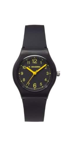 Diadora-di-007-01-Light-Armbanduhr-Quarz Analog-Zifferblatt schwarz Armband Silikon Schwarz