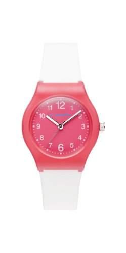 Diadora-di-007-03-Light-Armbanduhr-Quarz Analog-Zifferblatt Rosa Armband Silikon weiss
