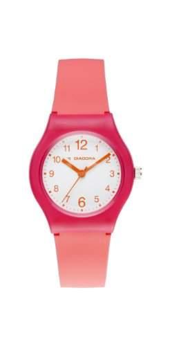 Diadora-di-007-04-Light-Armbanduhr-Quarz Analog-Weisses Ziffernblatt-Armband Silikon Rosa