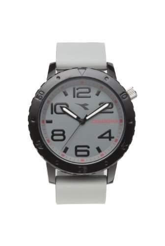 Diadora-di-009-01-20-Armbanduhr-Quarz Analog-Zifferblatt schwarz Armband Silikon Schwarz