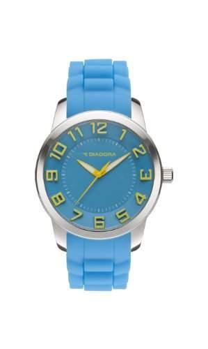 Diadora-di-010-02-3D-Armbanduhr-Quarz Analog-Zifferblatt tuerkis Armband Silikon Tuerkis