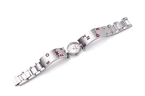 Kenzo Uhr Sakura Sterlingsilber rot rund