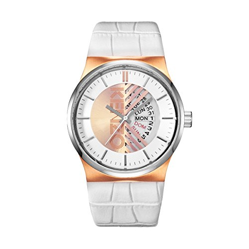 Kenzo K0064004 Herren SS IP Rose Gold Case 42 mm Quartz Uhr