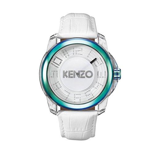 Kenzo K0094002 Herren Weiss Dial Strap 46 mm Quarzuhr