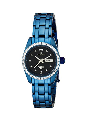 Blue Stainless Steel Automatic Black Dial