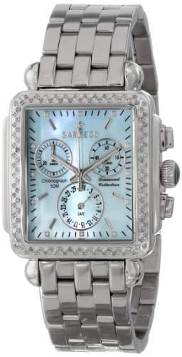 Diamond Chronograph Blue Mother Of Pearl Dial