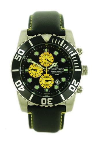 Ocean Master Diver Chronograph Black Dial Strap