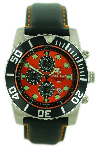 Ocean Master Diver Chronograph Orange Dial Black Bezel Strap