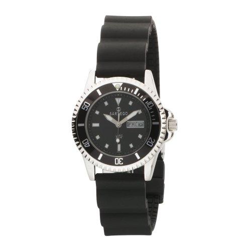 Quartz Black Dial Dive Watch Rubber Strap