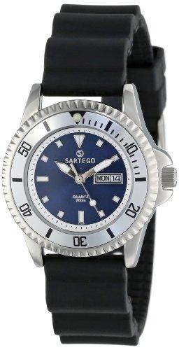 Quartz Blue Dial Dive Watch Rubber Strap