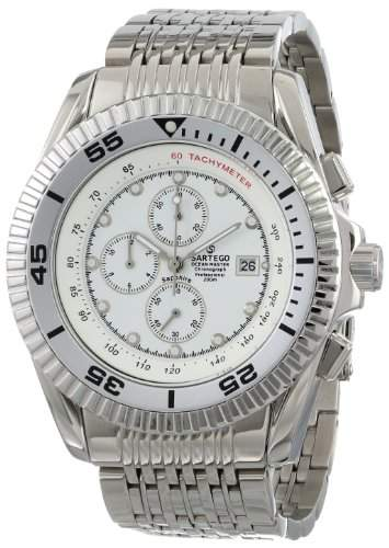 Stainless Steel Ocean Master Diver Chronograph White Dial
