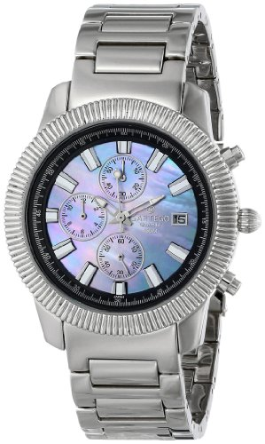 Stainless Steel Chronograph Mother of Pearl Dial