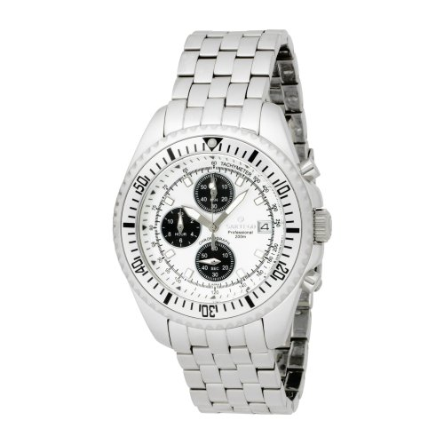 Stainless Steel Chronograph Silver Dial