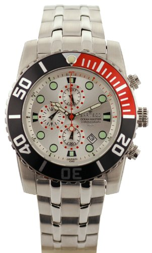 Stainless Steel Ocean Master Diver Chronograph Silver Tone Dial
