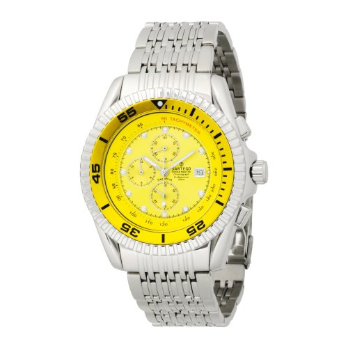 Stainless Steel Ocean Master Diver Chronograph Yellow Dial
