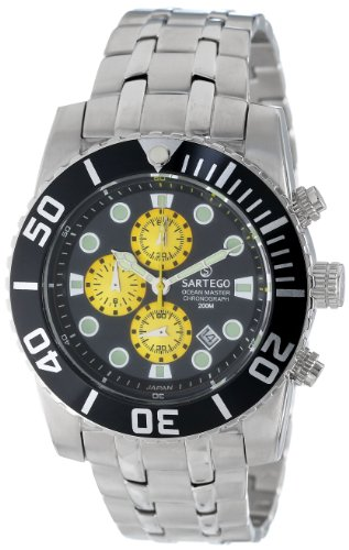 Stainless Steel Ocean Master Diver Chronograph Black Dial