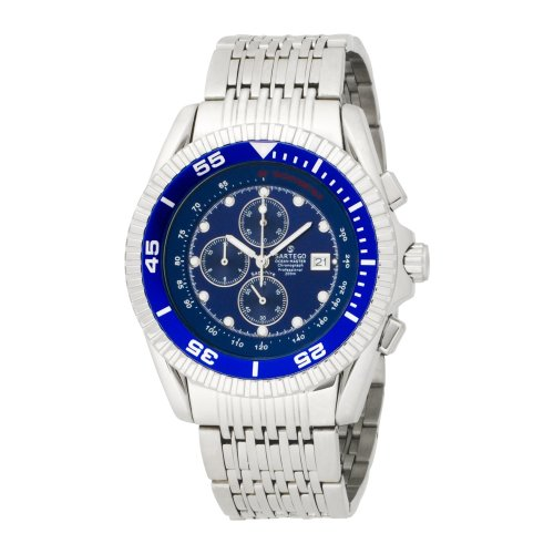 Stainless Steel Ocean Master Diver Chronograph Blue Dial