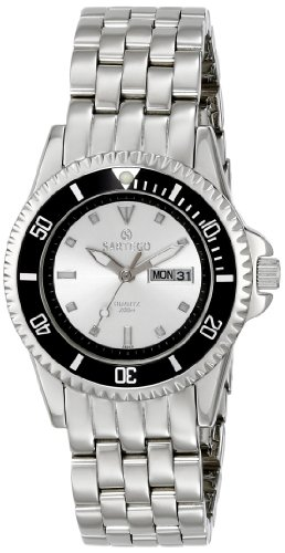 Stainless Steel Quartz Silver Dial Dive Watch