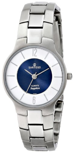Stainless Steel Seville Dress Watch Blue Dial