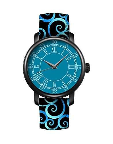 Damen Armbanduhr Leder Wolken kuehlen iCreat